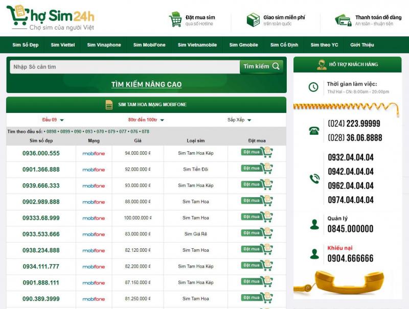 Chosim24h.com cam kết là chỉ chỉ bán số đẹp rẻ nhất thị trường hiện nay tại Hà Nội