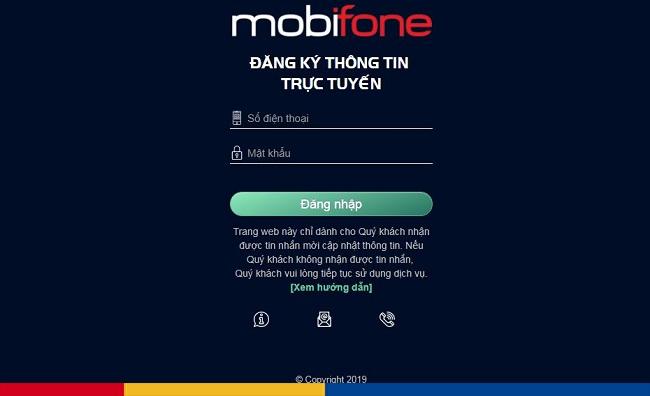 dang ky thong tin chinh chu mobifone