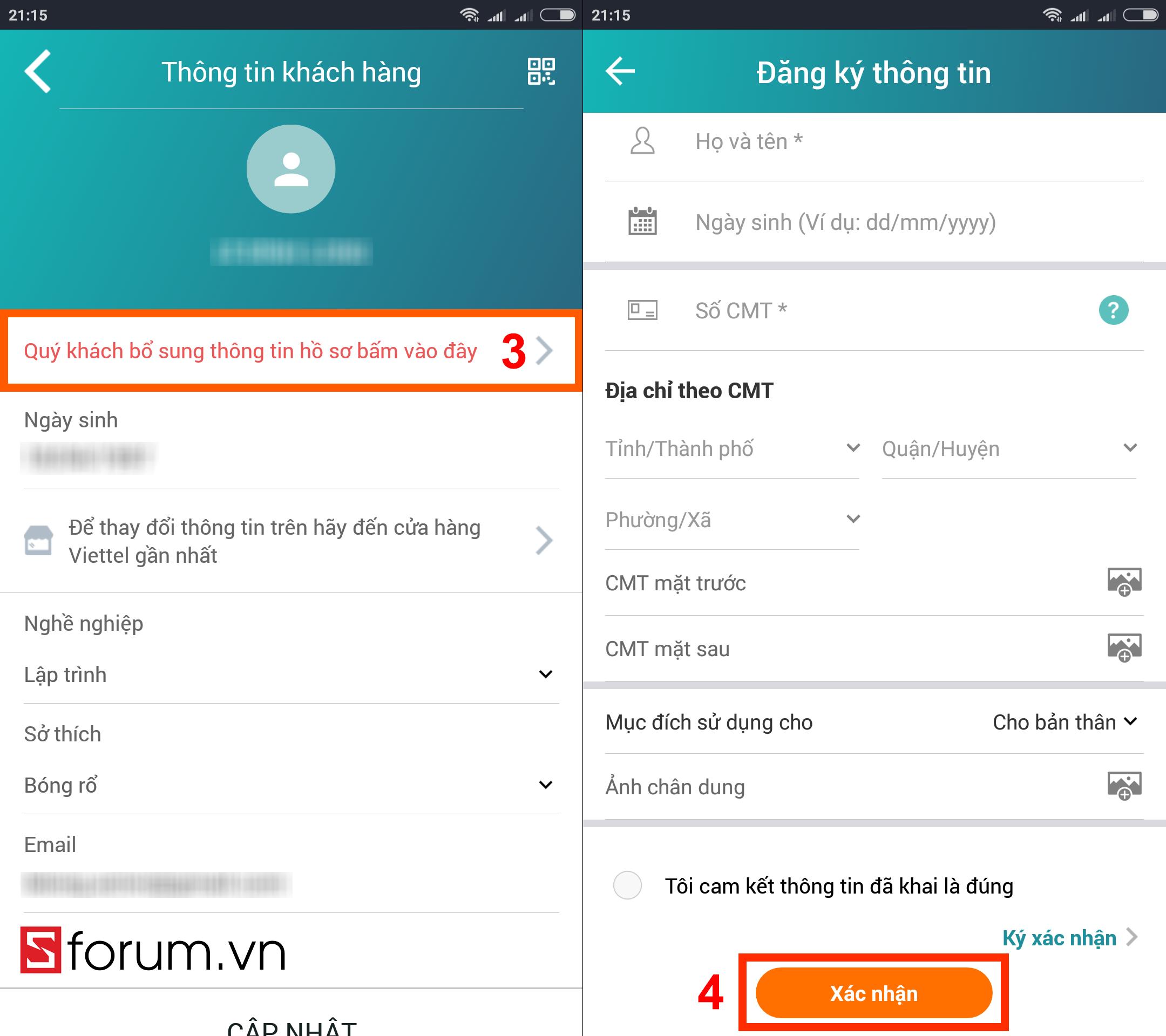 Sforum - Trang thông tin công nghệ mới nhất dk-tttb-viettel-sforum-5 Hướng dẫn tra cứu và cập nhật thông tin thuê bao Viettel ngay tại nhà bằng smartphone