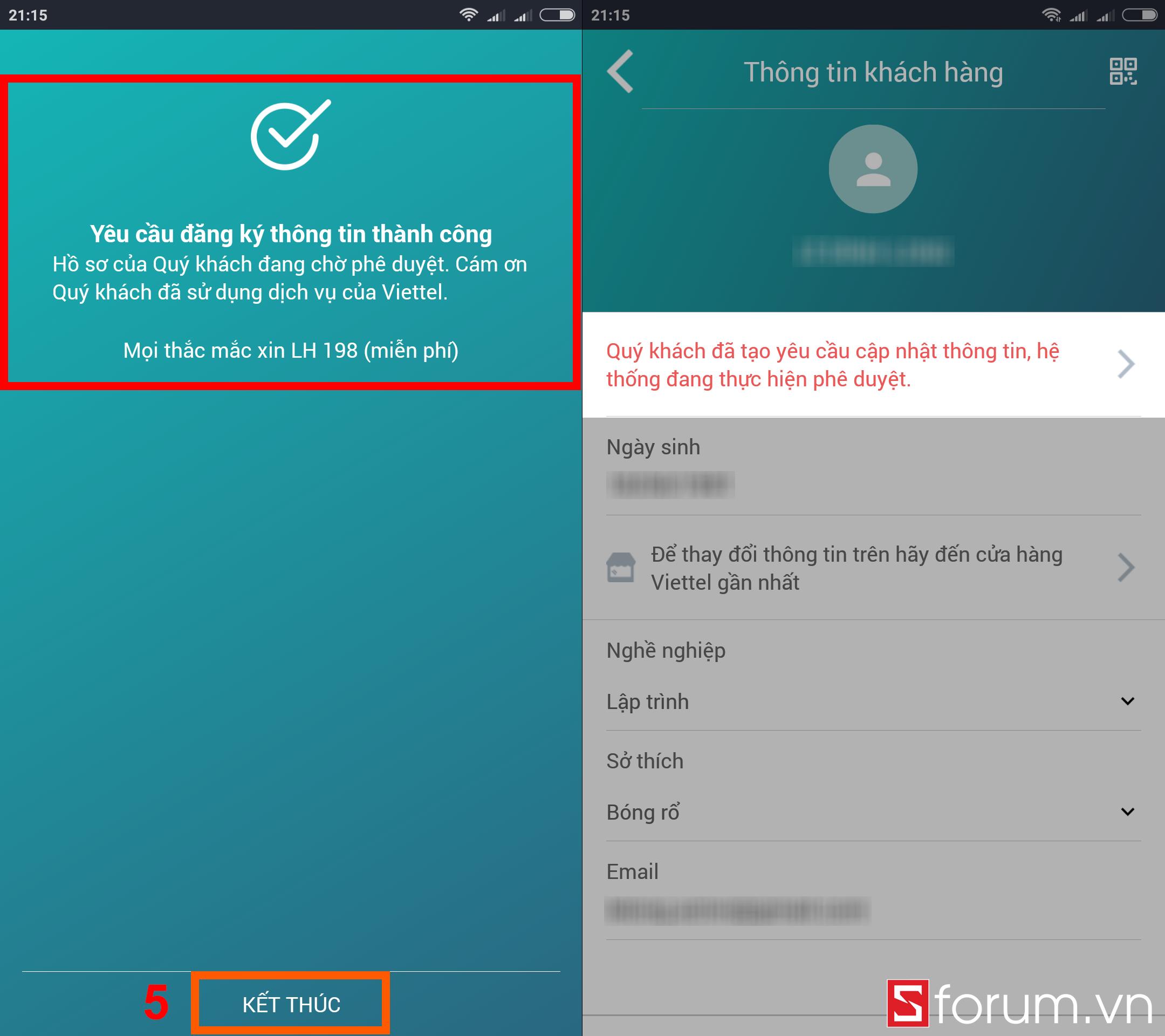 Sforum - Trang thông tin công nghệ mới nhất dk-tttb-viettel-sforum-6 Hướng dẫn tra cứu và cập nhật thông tin thuê bao Viettel ngay tại nhà bằng smartphone