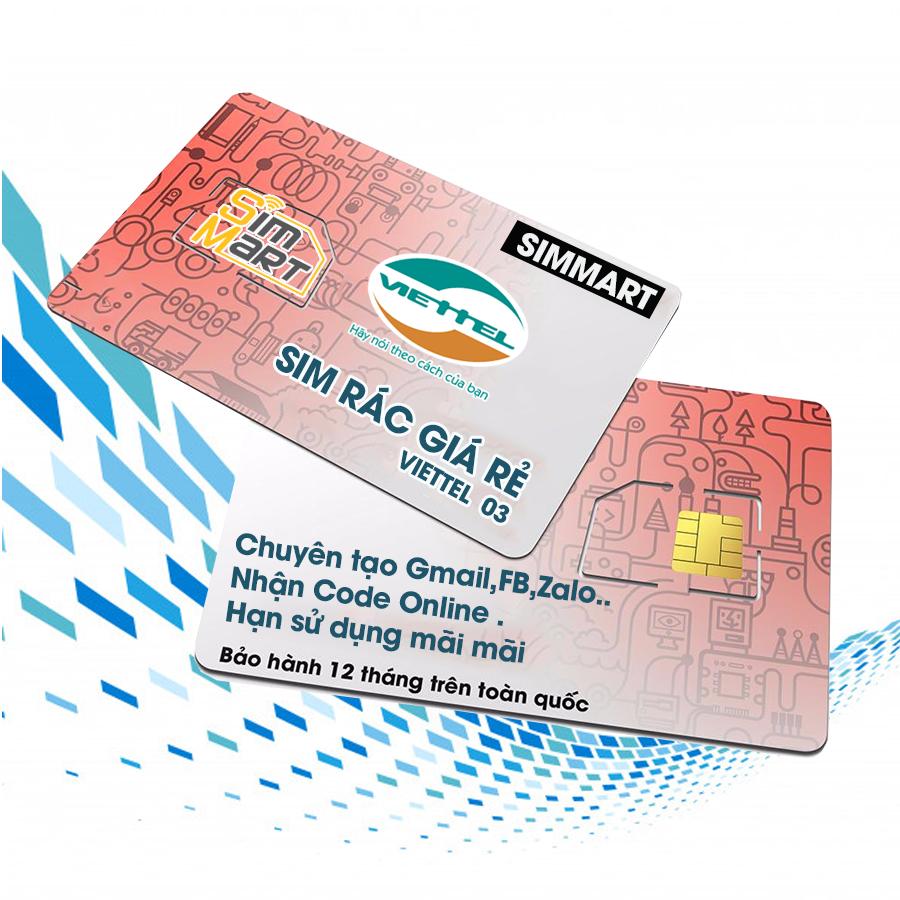 Sim rác giá rẻ Viettel 11 số chuyên đăng ký Gmail,Facebook,Zalo