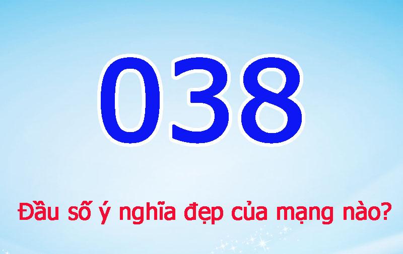 đầu số 038 1