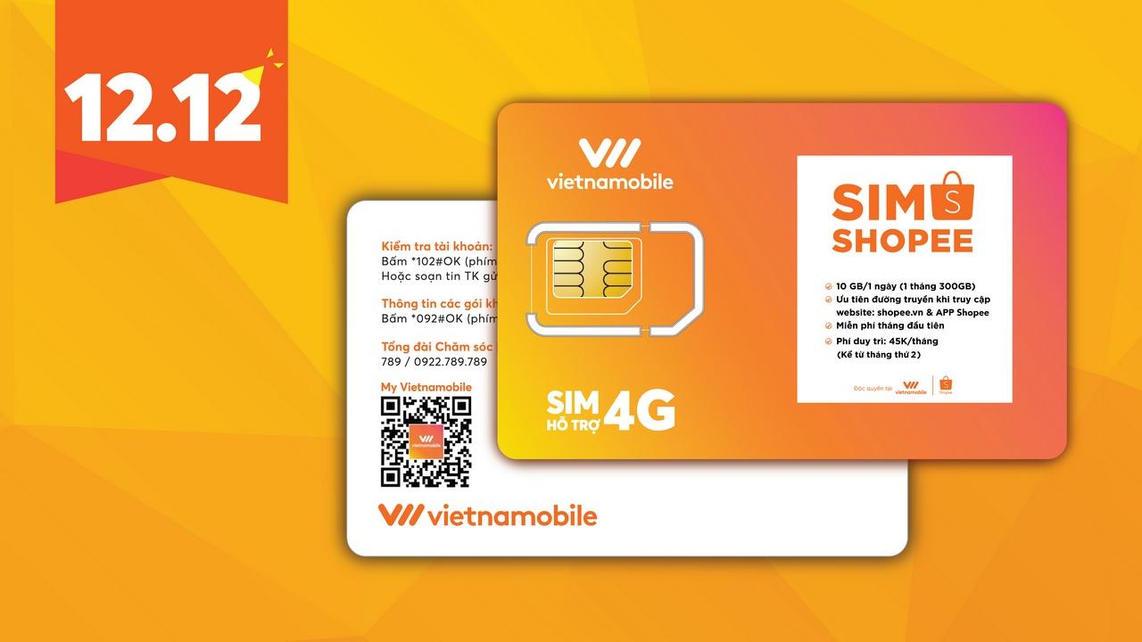 Vietnamobile hợp tác cùng Shopee ra mắt SIM 4G 10GB/ngày, phí 45 nghìn  đồng/tháng - VnReview - Tin nóng